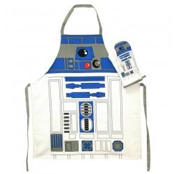 Juego de Delantal y Manopla Star Wars. Modelo R2-D2