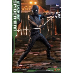 Hot Toys Spiderman Stealth Suit Far From Home Lejos de Casa Figura Comprar