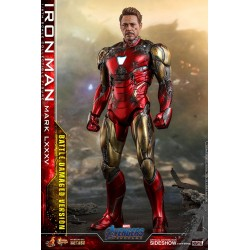Figura Iron Man Mark LXXXV Battle Damage Avengers Endgame Hot Toys