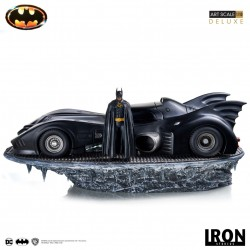 Estatua Batman y Batmóvil Batman 1989 Escala 1/10 (Iron Studios)