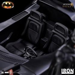 Estatua Batman y Batmóvil Batman 1989 Escala 1/10 (Iron Studios)