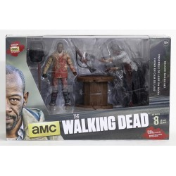 The Walking Dead. Figuras de Acción. Pack Deluxe Morgan con Zombie Empalado  (Serie 8)