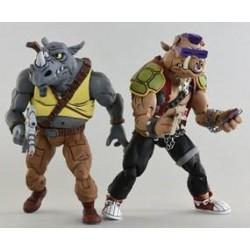 Pack Figuras Bebop y Rocksteady Tortugas Ninja 1980 Neca