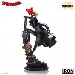 Estatua Spider-Man Noir y Spider-Ham. Un Nuevo Universo Iron Studios
