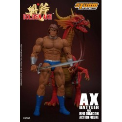 Figura Ax Battler y Dragón Rojo Golden Axe. Storm Collectibles