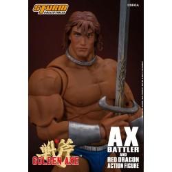 Figura Ax Battler y Dragón Rojo Golden Axe. Storm Collectibles