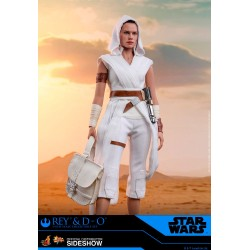 Figura Rey y D-O Hot Toys Star Wars Ascenso de Skywalker