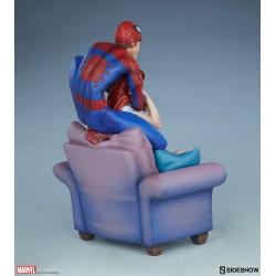 Figura Spiderman y Mary Jane Maquette Sideshow Comprar España