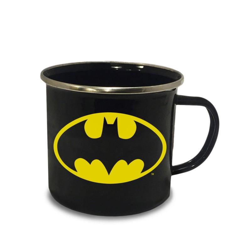 Taza Batman Logo Esmaltada Comprar
