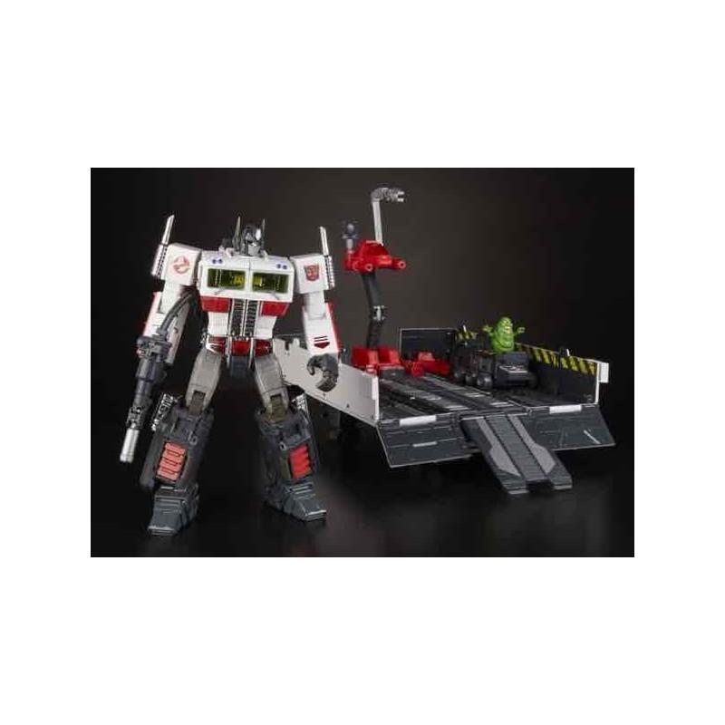 Figura Optimus Prime X Ghostbusters Mp10G Ecto-35 Transformers SD Comic Con 2019