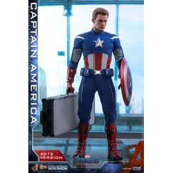 figura capitan america version 2012 hot toys vengadores endgame avengers