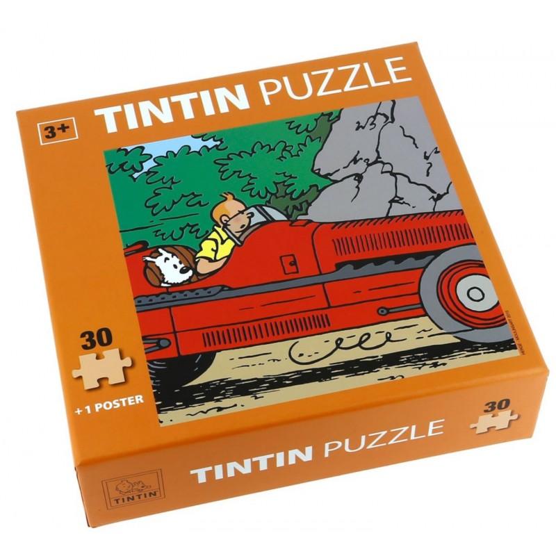 Puzzle Tintín. Modelo Coche Amilcar