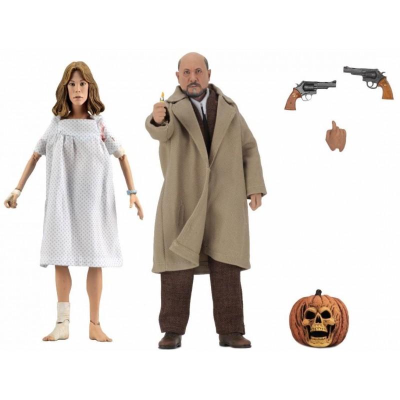 Pack Figuras Doctor Loomis y Laurie Strode Neca Halloween 2