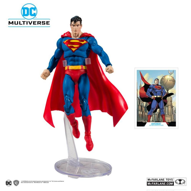 Figura Superman DC Rebirth Modern Action Comics 1000 McFarlane Multiverse DC Comics