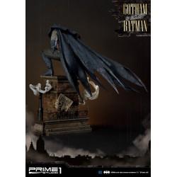 Estatua Batman Gotham a Luz de Gas Arkham Origins Blue Statue Prime1 Studio