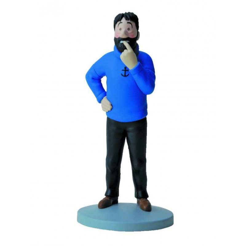 Figura PVC Tintín. Capitán Haddock Dubitativo (Escala 12 cm)