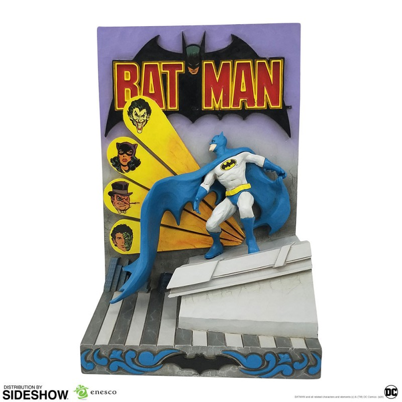 estatua batman 3d comic book enesco sideshow