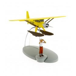 """Avión Tintín. Hidroavión amarillo """"El cangrejo de las pinzas de oro"""""""