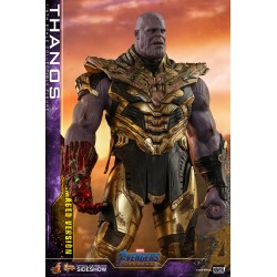 thanos battle damage endgame hot toys