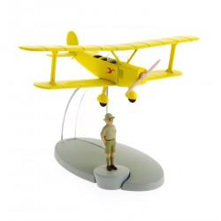"""Avión Tintín. Biplano Amarillo en """"Tintín en el Congo"""""""