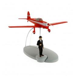 """Avión Tintín. Avión Rojo en """"La Isla Negra"""""""
