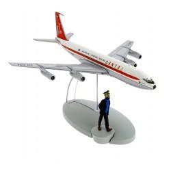 "Avión Tintín. Boeing 707 de Qantas Australia's Overseas Airline en ""Vuelo 714 para Sydney"""