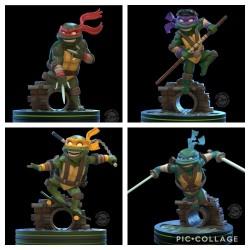 Figuras Tortugas Ninja Q-Fig Quantum Mechanix Leonardo Donatello Michelangelo Raphael