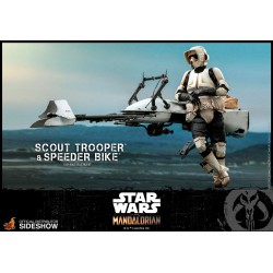 figura scout trooper speeder bike hot toys star wars mandalorian