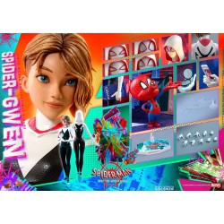 figura spidergwen hot toys spiderman un nuevo universo into the spiderverse