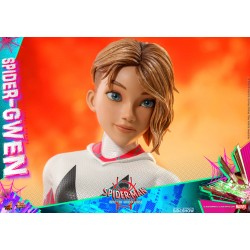 figura spidergwen hot toys spiderman un nuevo universo into the spiderverse