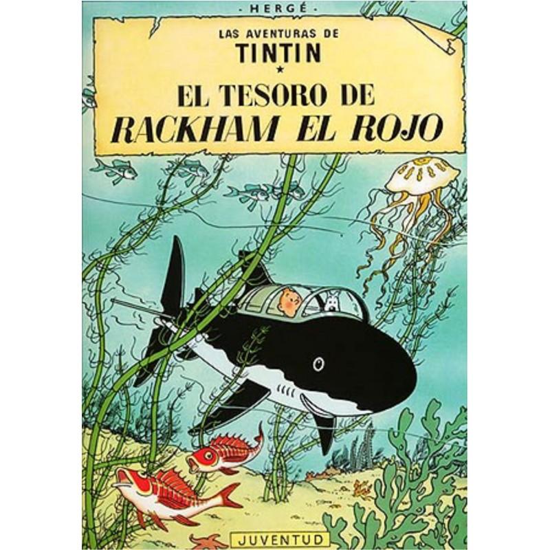Tintín El Tesoro de Rackham el Rojo Comic