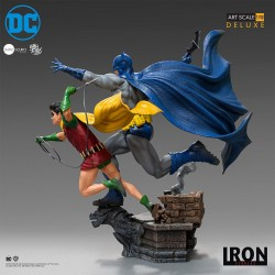 figura batman y robin iron studios ivan reis statue