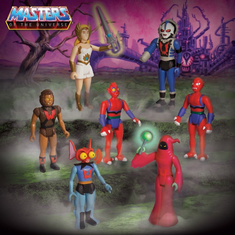 masters del universo figuras reaction wave 5 super7 she-ra mantenna hordak modulok grizzlor shadow weaver
