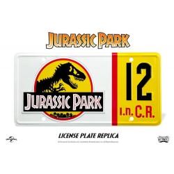 Réplica Jurassic Park Matrícula Dennis Nedry