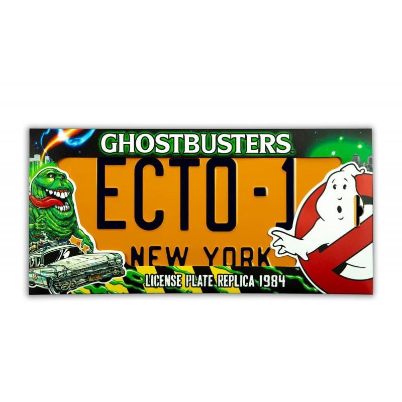 Réplica Ghostbusters Cazafantasmas Matrícula ECTO-1