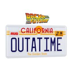 Réplica Regreso al Futuro Matrícula Outatime DeLorean