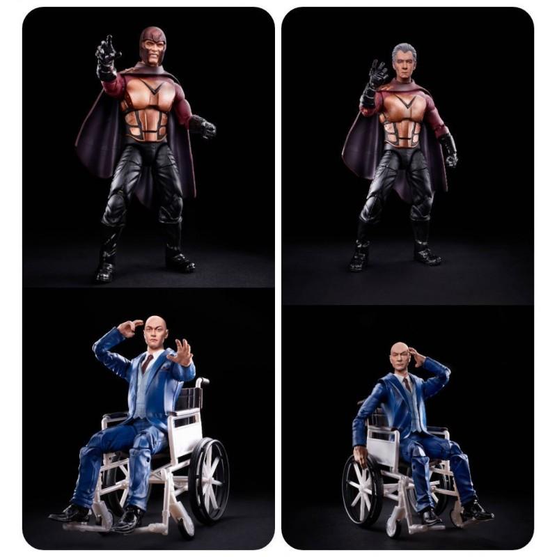 Pack Figuras Profesor X y Magneto X-Men 20 Aniversario Marvel Legends