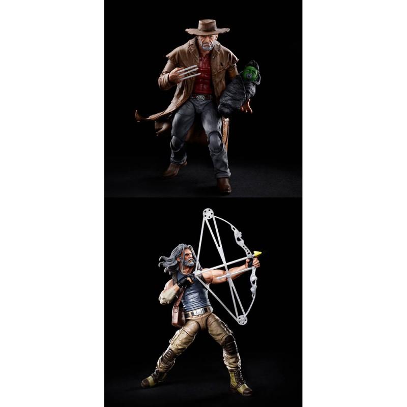 Pack Figuras Old Hawkeye y Old Logan X-Men 20 Aniversario Marvel Legends