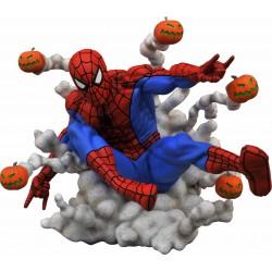 Estatua Spider-Man Bombas Calabaza Marvel Comic Gallery