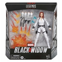 figura black widow marvel legends viuda negra traje blanco white suit hasbro