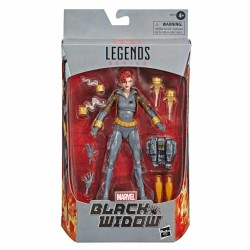 figura marvel legends viuda negra version comic hasbro