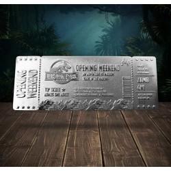Réplica Jurassic Park Opening Weekend VIP Ticket Plateado
