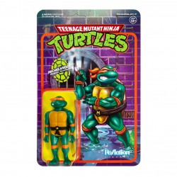 Figura Michelangelo Tortugas Ninja ReAction Super7