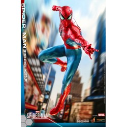 figura spiderman hot toys spidergame armor mark IV