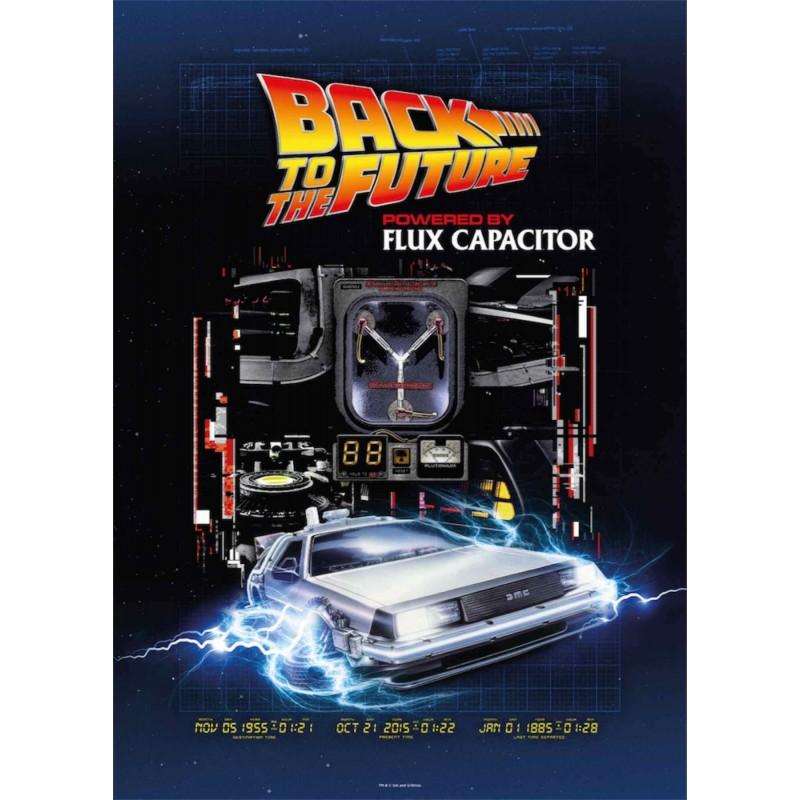 Puzzle 1000 Piezas Regreso Al Futuro Powered By Flux Capacitor