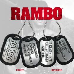 Rambo Chapas de Identificación con Collar