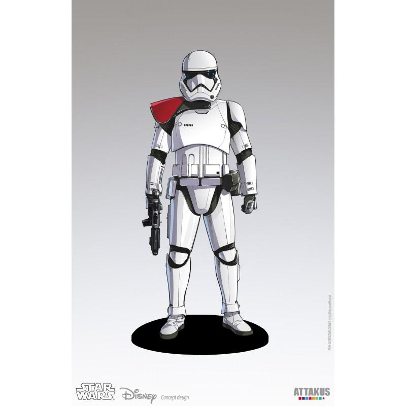 Figura Stormtrooper Oficial con Hombrera Roja Primera Orden Star Wars (Attakus)