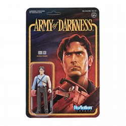 Figura Ash con Motosierra El Ejército de las Tinieblas ReAction Super7 Army of Darkness