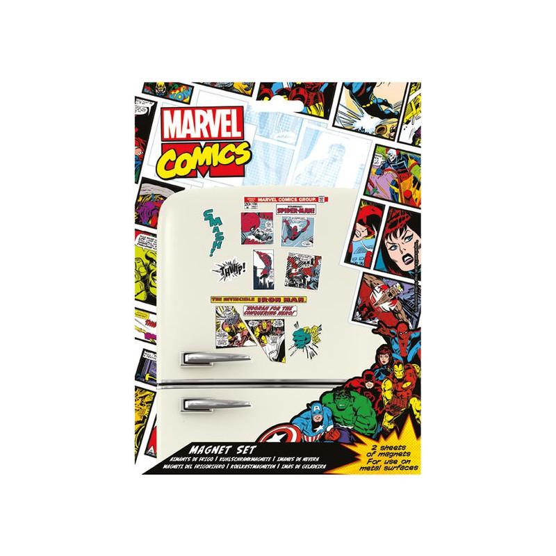 Set de Imanes Marvel Retro