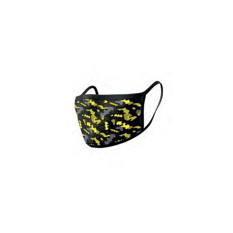 Pack de 2 Mascarillas de Tela Batman Camo Yellow